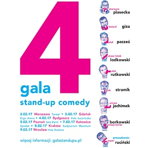 Buy tickets for 4 Gala Stand Up Comedy - POLSKA - 2017-02-02 - 2017-02-09