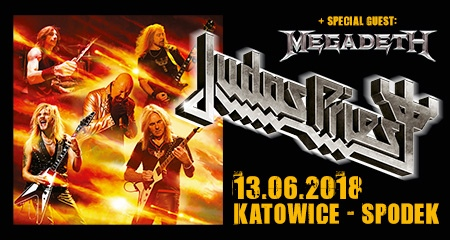 Buy tickets for concert JUDAS PRIEST + special guest: MEGADETH - Spodek - Katowice - Wednesday, June 13, 2018, 20:00