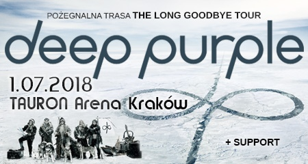 Buy tickets for concert Deep Purple - The Long Goodbye Tour - Tauron Arena Kraków - Kraków - Sunday, July 1, 2018, 20:00